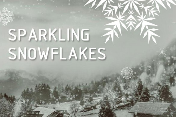 Create Snow with Sparkling Snowflakes Clipart