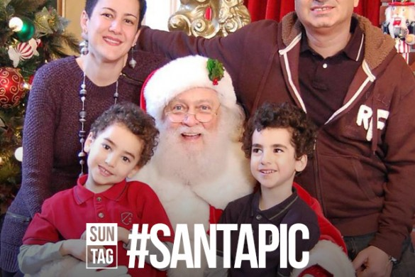 Share Your Pictures with Santa with the Sunday Hashtag #santapic