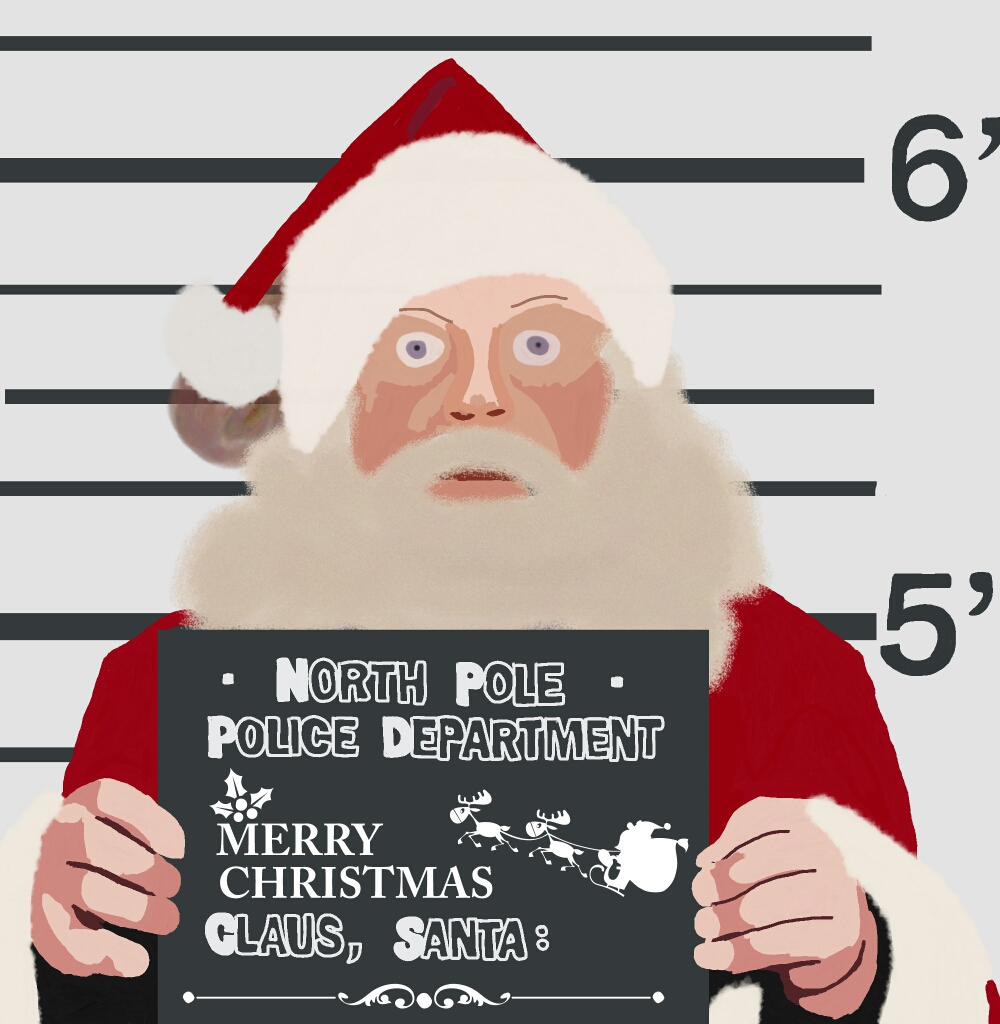 Arrested Santa Claus Drawing by picsart
