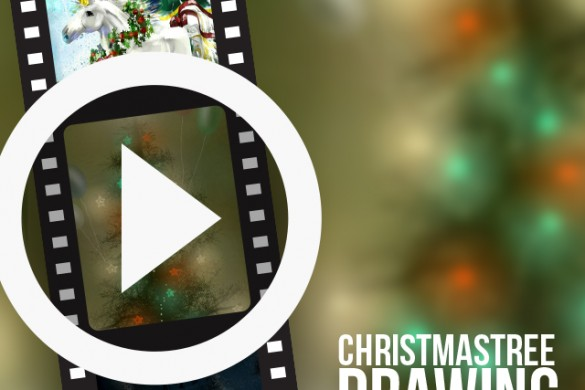 Time-Lapse Videos of PicsArtists Drawing Christmas Trees