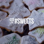 New year cookies with sweets hashtag on it