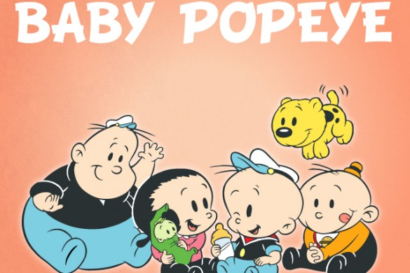 Baby Popeye Clipart and Backgrounds Package