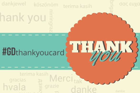 Show Your Gratitude with the #GDthankyoucard Graphic Design Contest