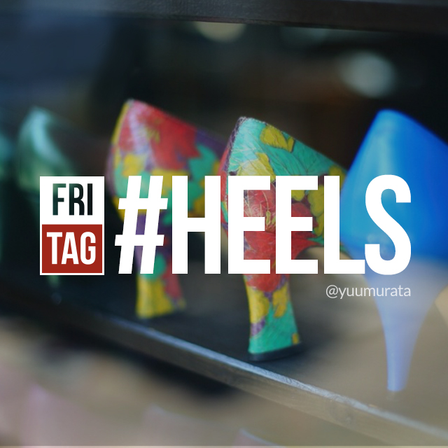 photo of colorful heels for Friday hashtag