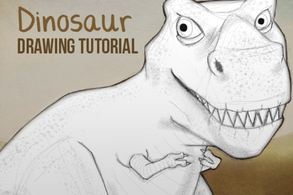 How to Draw a Ferocious Dino using PicsArt