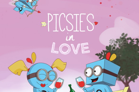 Celebrate Valentine's Day with the Picsies in Love Clipart Package