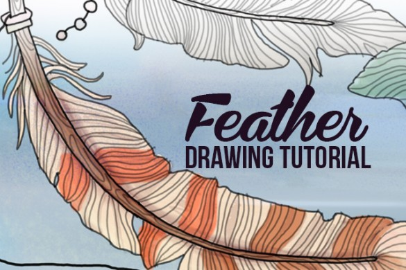 Step by Step tutorial on How to Draw Feathers using PicsArt
