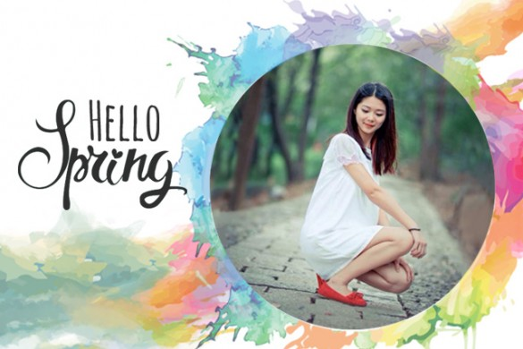 Welcome Spring with the Hello Spring Frame Package