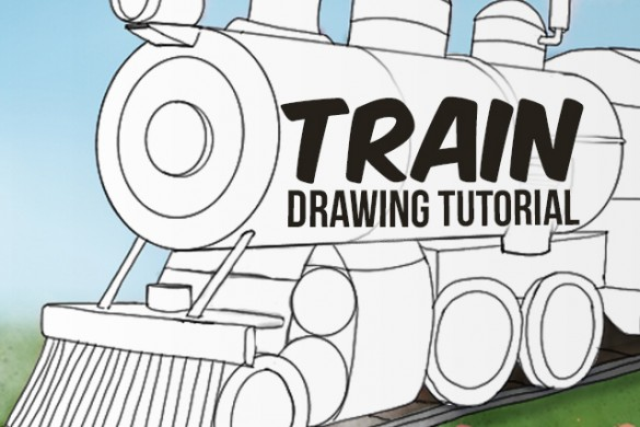 Step by Step Tutorial on How to Draw a Train
