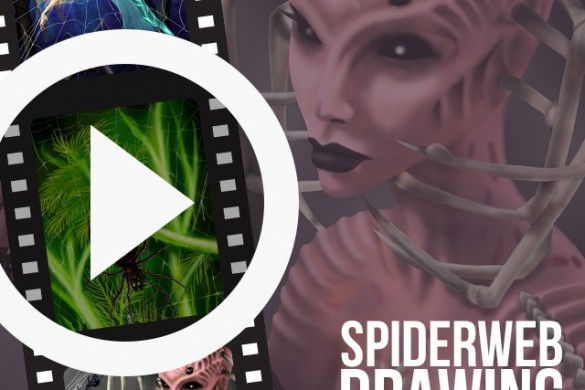 PicsArtists Share Time-Lapse Videos of Spiderweb Drawings