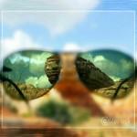photo of sunglasses reflection of rocks
