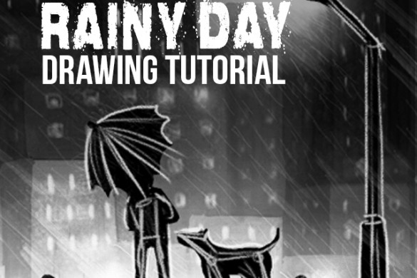 How to Draw a Rainy Day with PicsArt