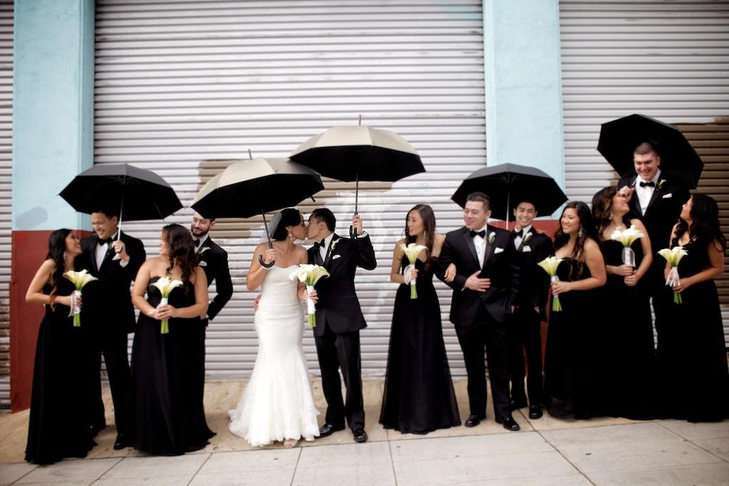 wedding with umbrellas photo of San Diego wedding photographer Christina O'Brien