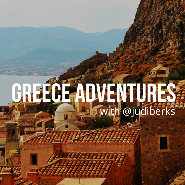 Greece adventures text on the city photo