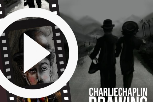 Time-Lapse Videos of PicsArtists Drawing Charlie Chaplin