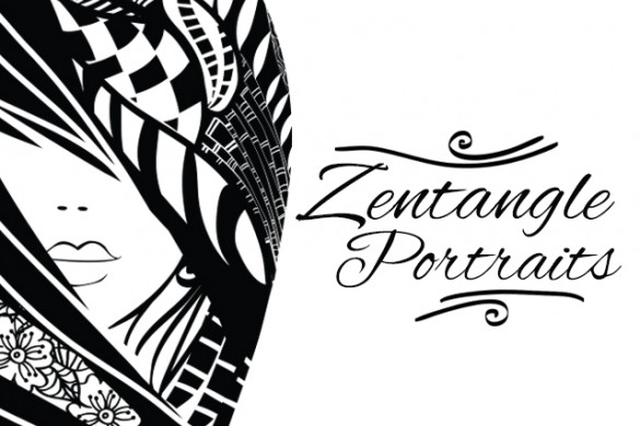 Download the Zentangle Portraits Package from the PicsArt Shop