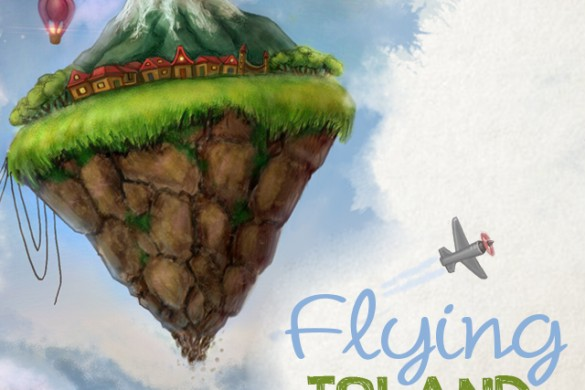 How to Draw a Flying Island with PicsArt