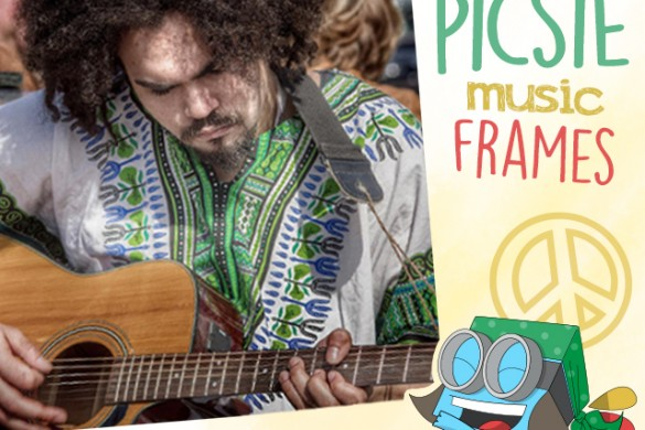 Download the Picsie Music Frames Package from the PicsArt Shop