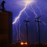 Lightning strike photo edited with picsart