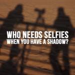 shadow photo on the sand