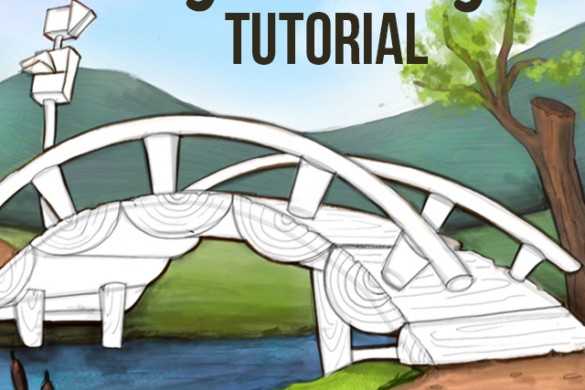 How to Draw a Bridge with PicsArt