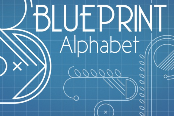 Download the Blueprint Alphabet Package from the PicsArt Shop