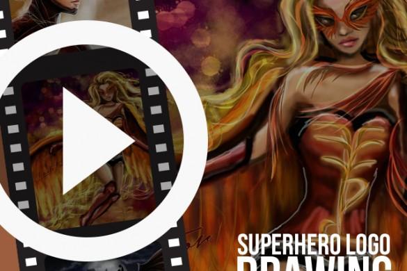 Time-Lapse Drawing Videos of Superhero Logos