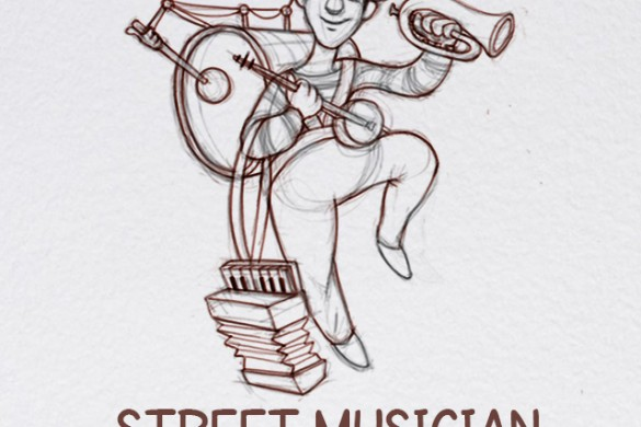 How to Draw a Street Musician with PicsArt
