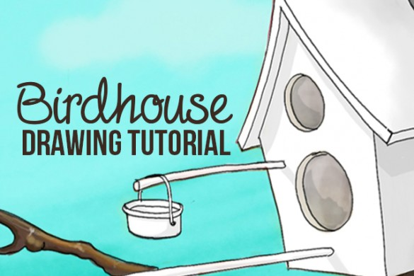 How to Draw a Birdhouse with PicsArt