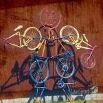 Sculpture from bicycles photo by Sylvie Girard