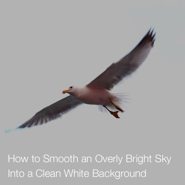 How to Smooth an Overly Bright Sky Into a Clean White Background