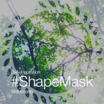 Photo of a nature with picsart shape mask