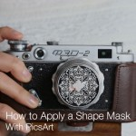 Photo of a camera with picsart shape mask