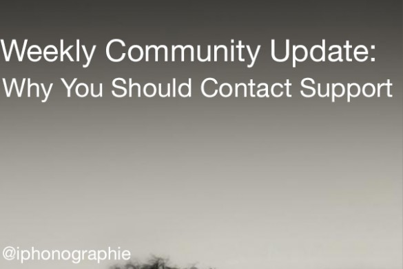The one about why you should contact support
