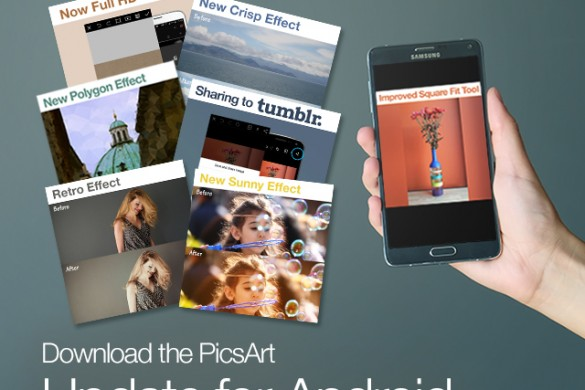 PicsArt Update for Android: Sharing to Tumblr, New Effects, & More