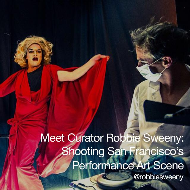 Performance art scene photos from Robbie Sweeny