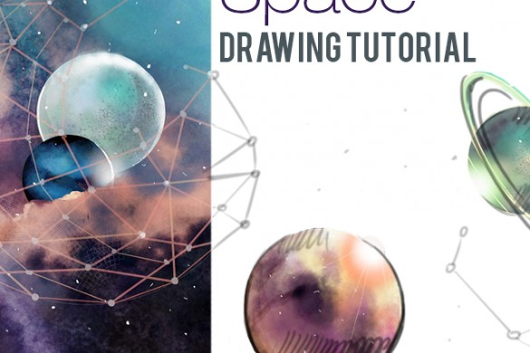 How to Draw Outer Space With PicsArt's Drawing Tools