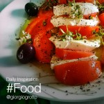 Photo of caprese salad on the plate