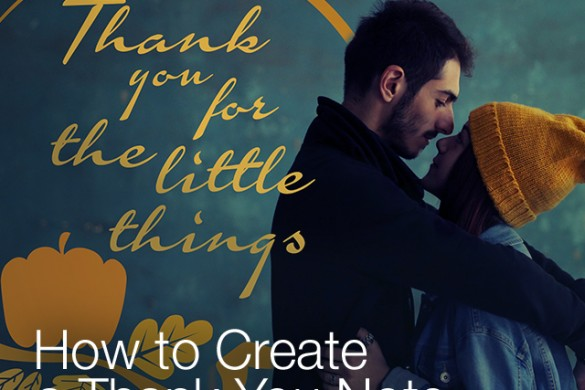 How to Create a Thank You Note With the Photo Editor