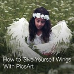 How to give yourself wings with picsart