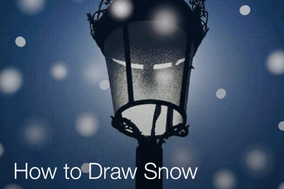 Draw Snow on Your Photos With PicsArt's Drawing Tools