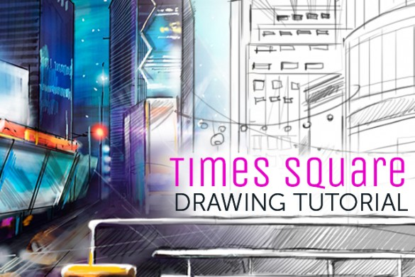 How to Draw a Times Square Scene With PicsArt's Drawing Tools