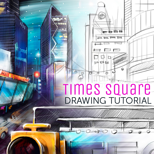 Times Square drawing tutorial
