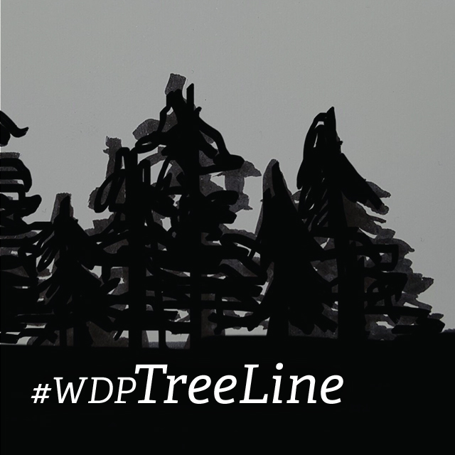 Weekly Drawing Project: Tree Line edited with picsart