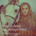 Photo of a girl with horse using vintage effect