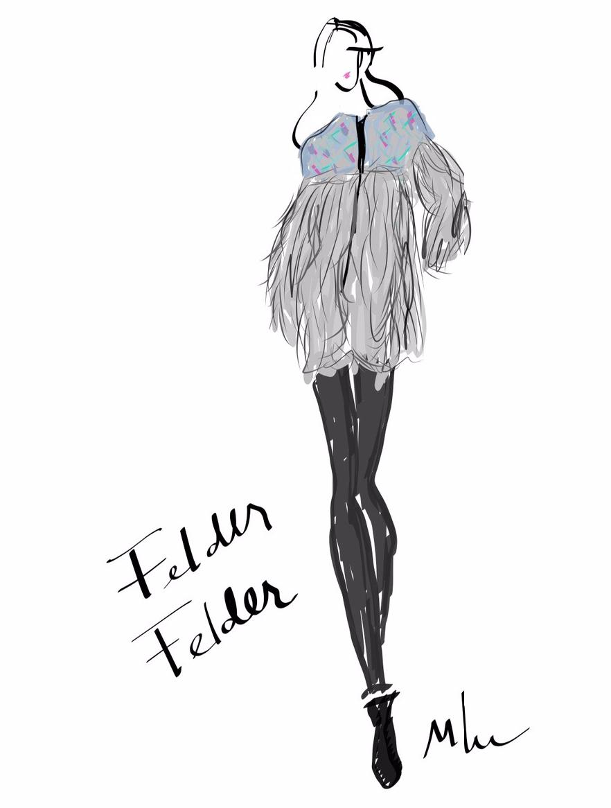 London fashion week sketch