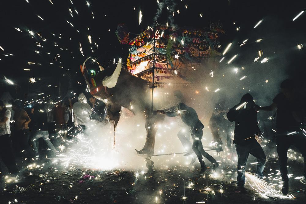 amazing fireworks festival in Tultapec