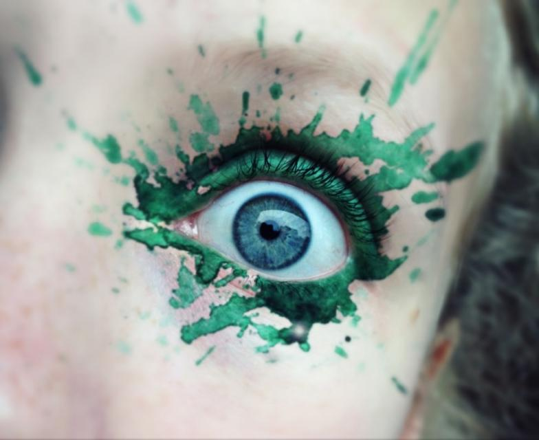 Green Eye Makeup Photo