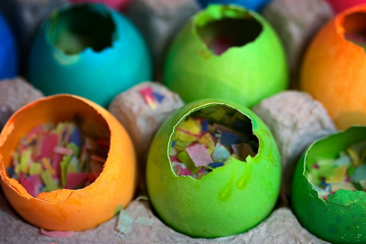 Mexican Cascarones = Easter egg decorations