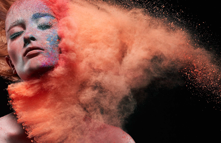 colorful powder photography